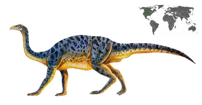 anchisaurus caminando