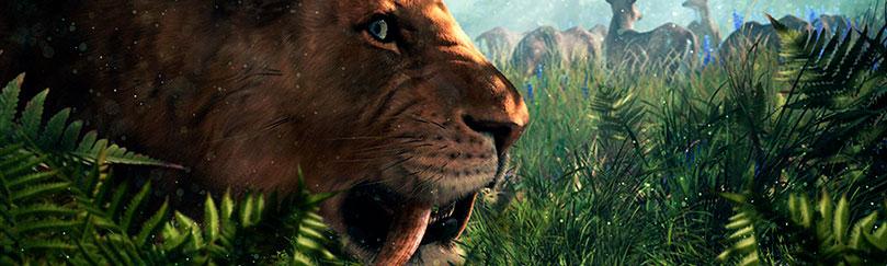 Smilodon dientes de sable, del grupo de Animales prehistóricos extintos