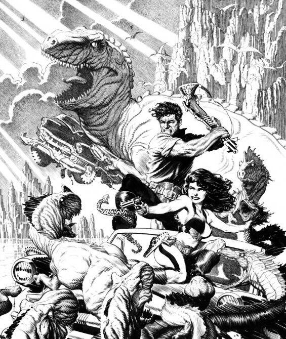 cadillacs y dinosaurios comic