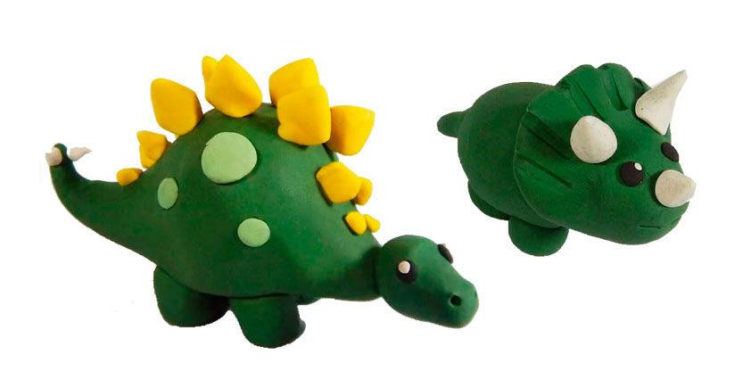 como hacer dinosaurios de plastilina paso a paso