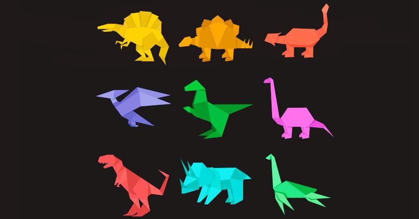 como hacer dinosaurios origami con papel paso a paso 1