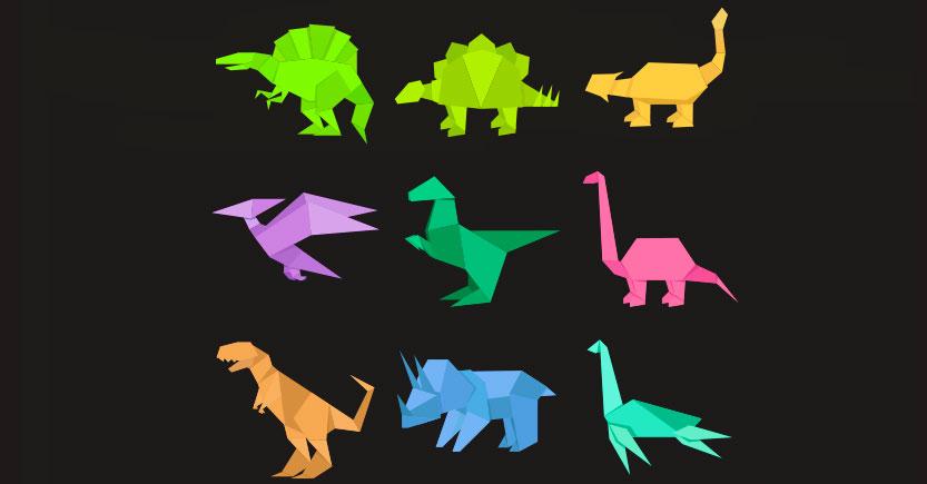 como hacer dinosaurios origami con papel paso a paso 2