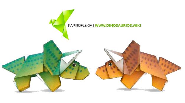 como hacer un triceratops origami