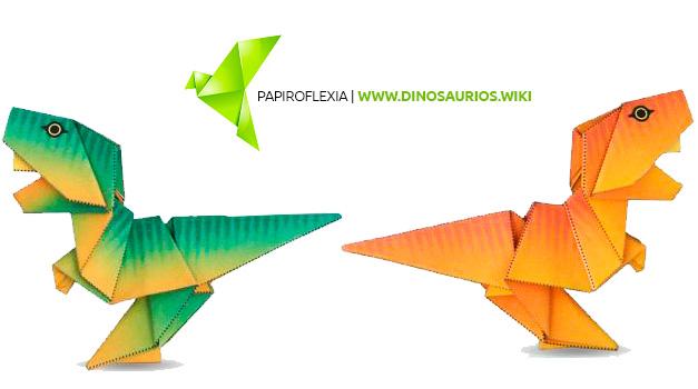 como hacer un tyrannosaurus rex origami