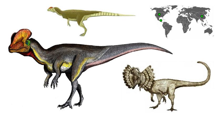 dilophosaurus dilofosaurio