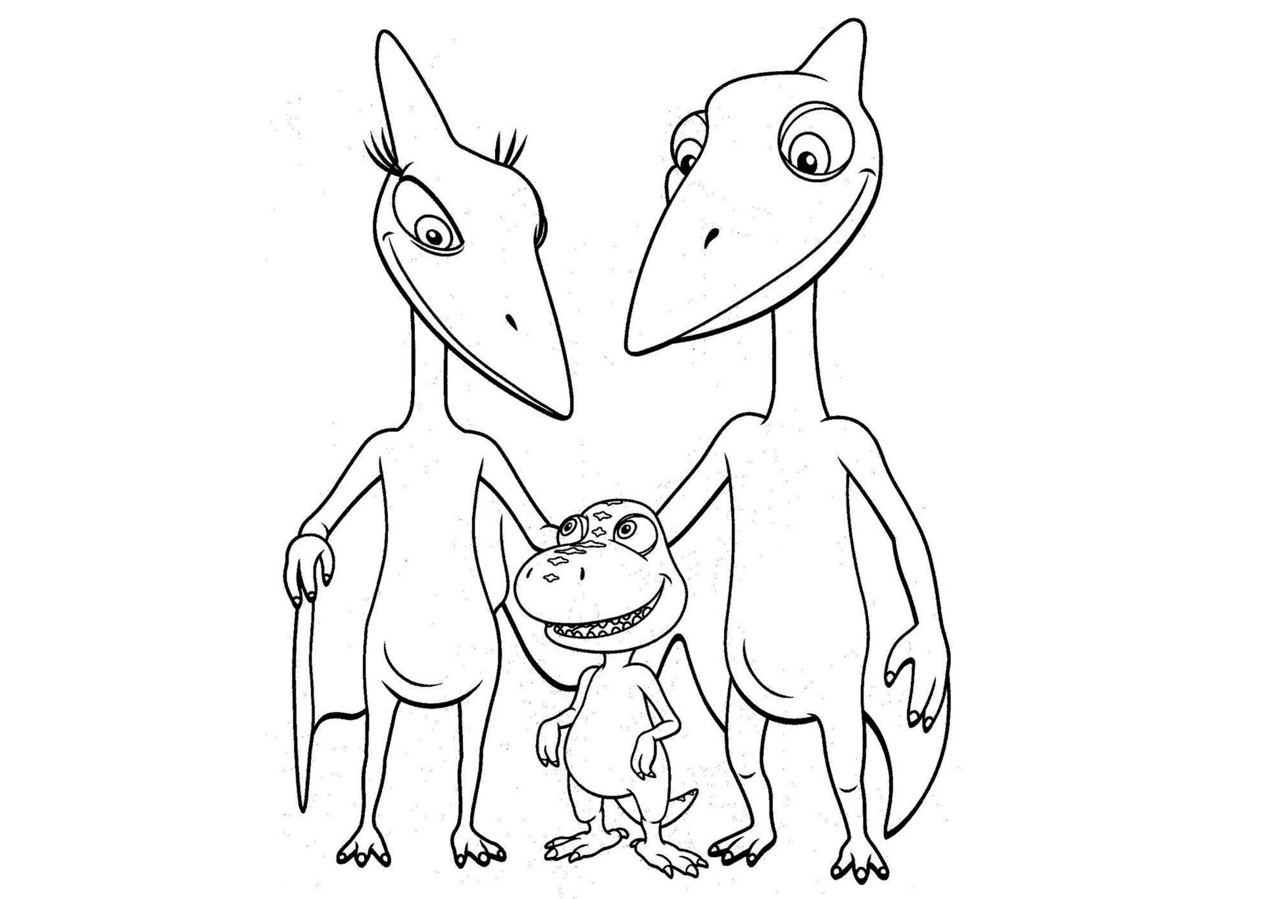 dinosaurios para colorear 2