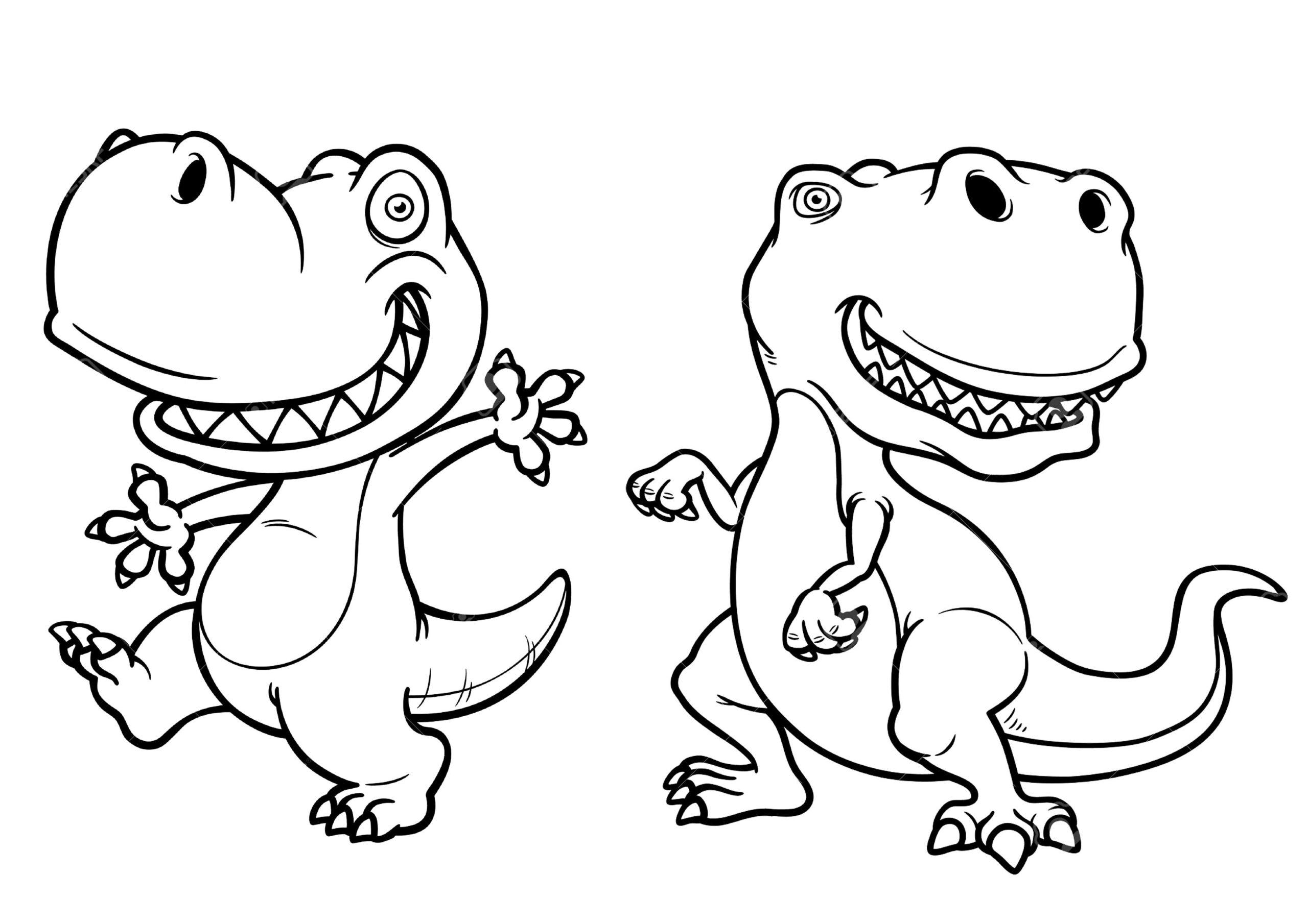 dinosaurios para colorear 7