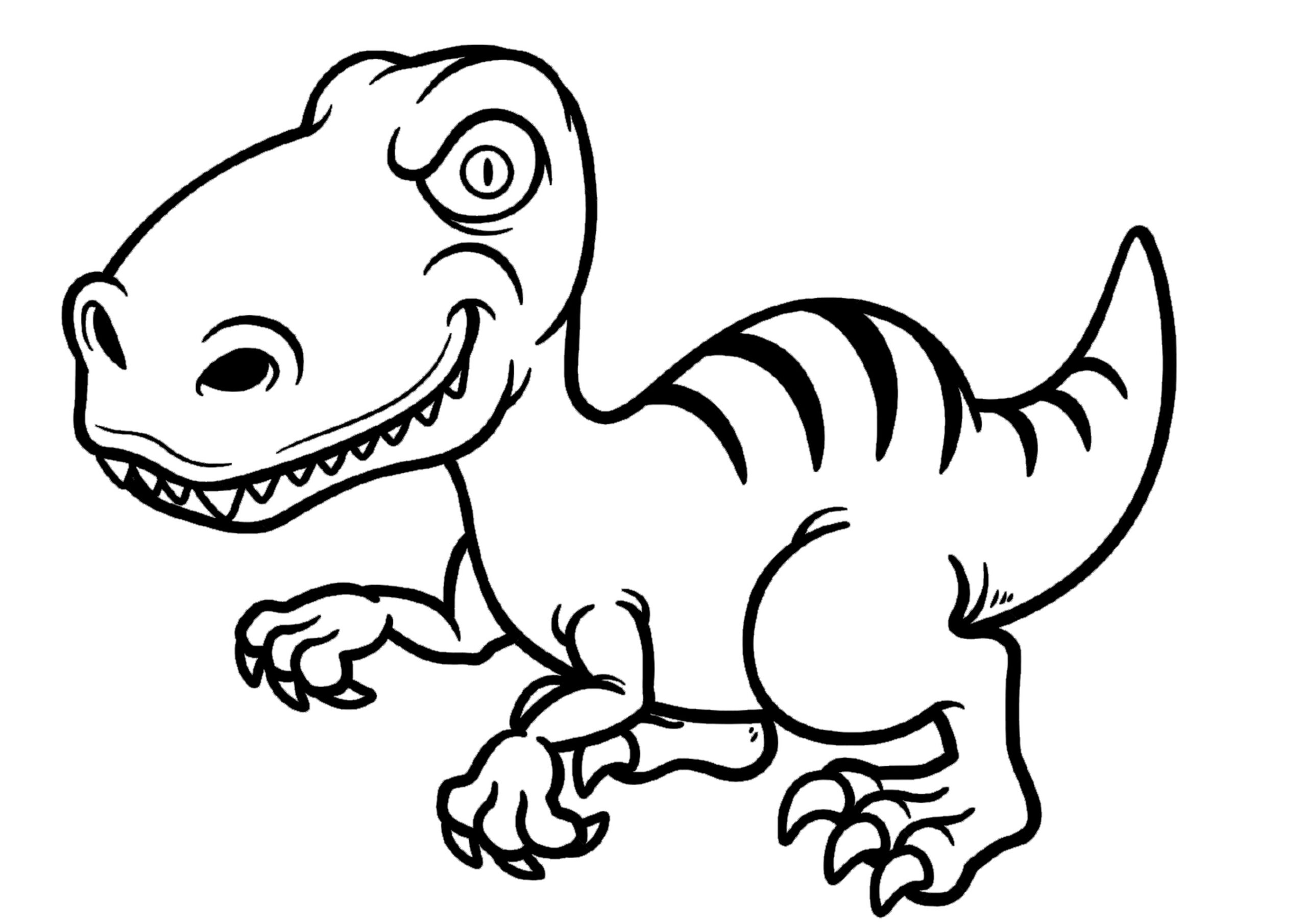 dinosaurios para colorear 8