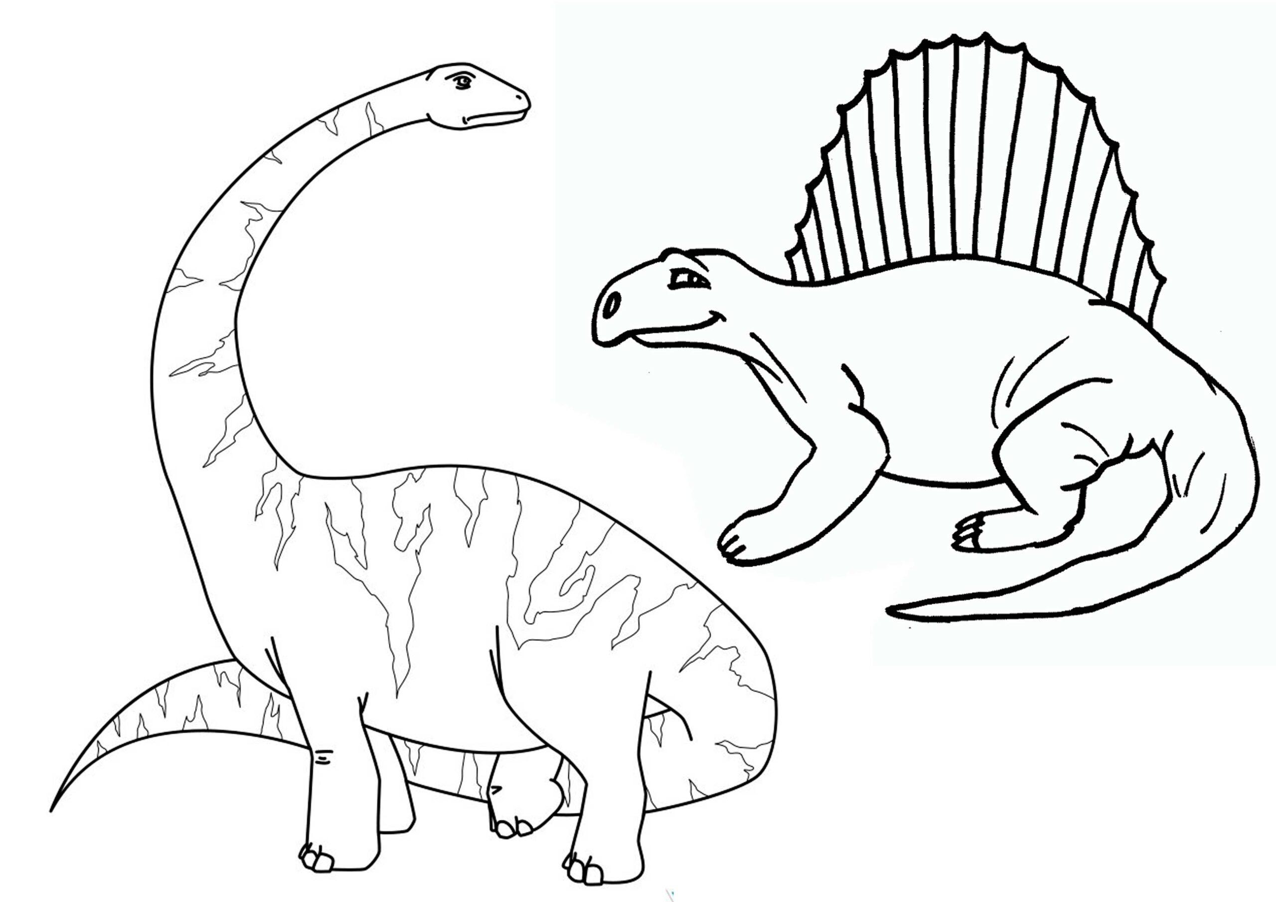 dinosaurios para pintar 2