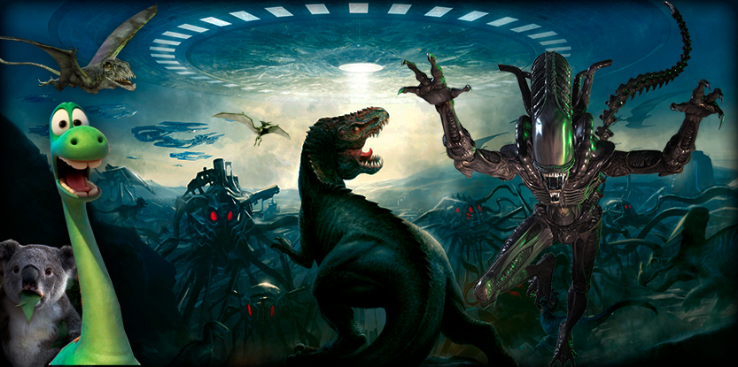 dinosaurios visitados por alienigenas 1