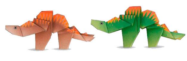 estegosaurio origami de papel