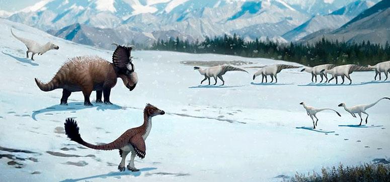 Extinción de los dinosaurios por un cambio climático