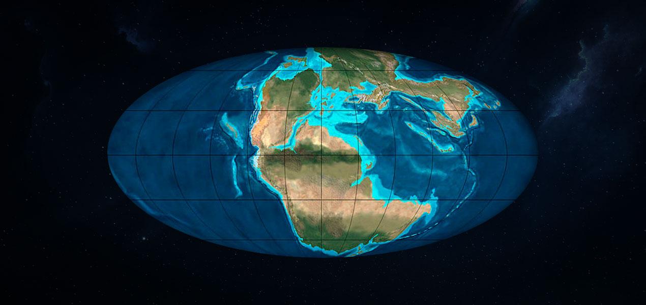 jurassico inferior a mediados de la era Mesozoica