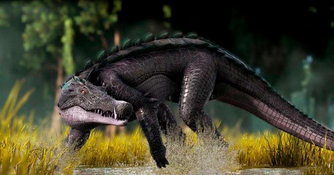 kaprosuchus con forma de cocodrilo