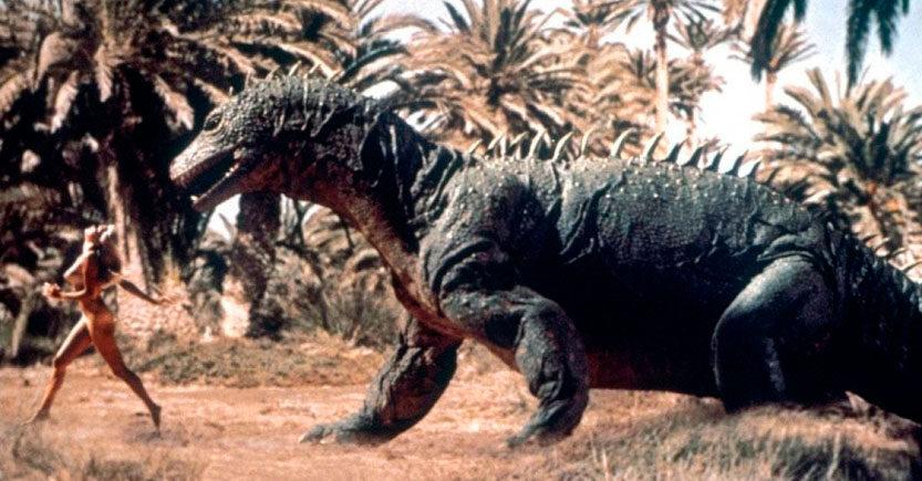 la sincronia entre hombres y dinosaurios en el cine