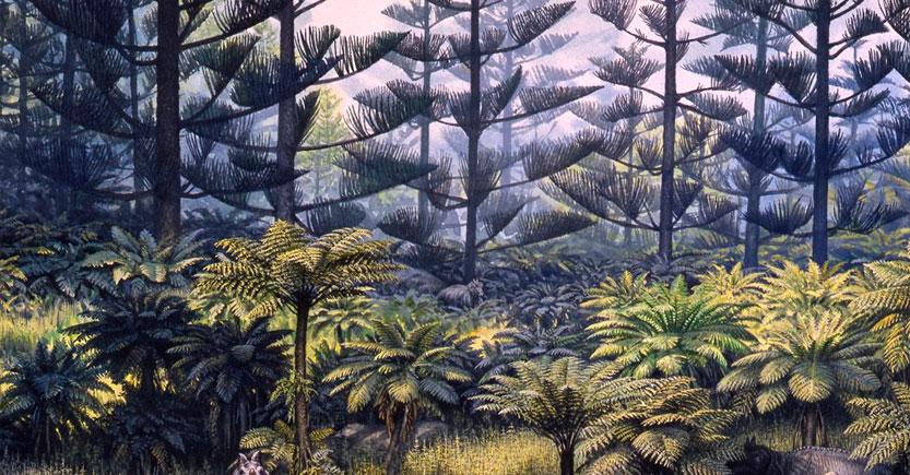 las plantas del periodo triasico