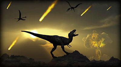 Las teorías de la gran extinción a finales de la era Mesozoica