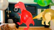 manualidad como hacer dinosaurios con globos