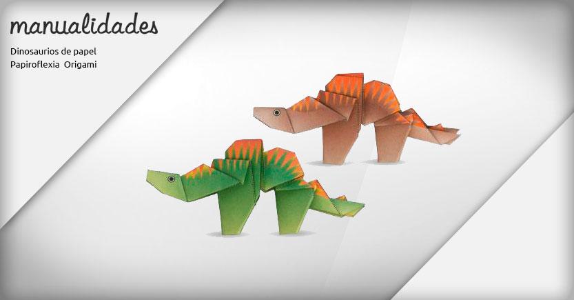 manualidades papiroflexia origami estegosaurio stegosaurus