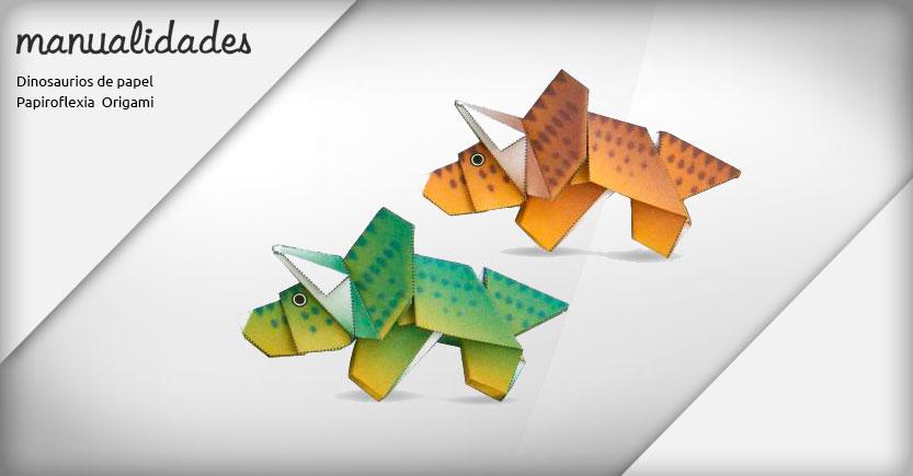 manualidades papiroflexia origami triceratops