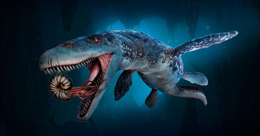 mosasaurus mosasaurio