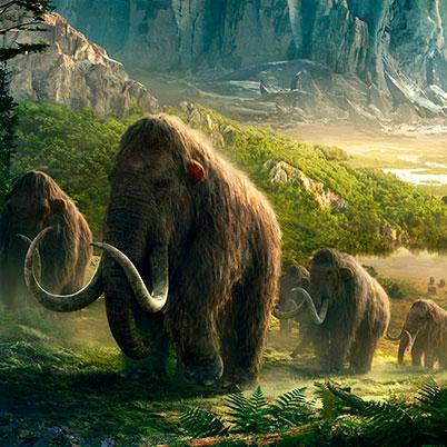 otros animales prehistóricos