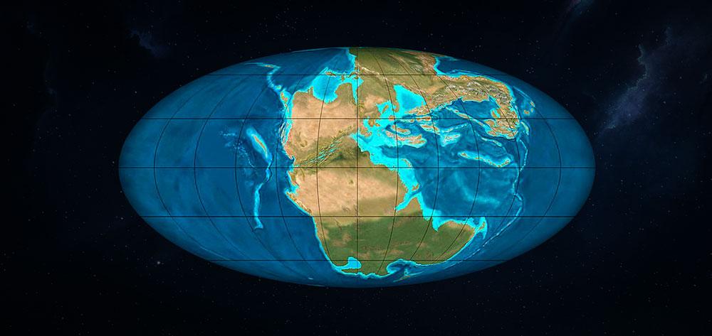 Pangea periodo triasico superior