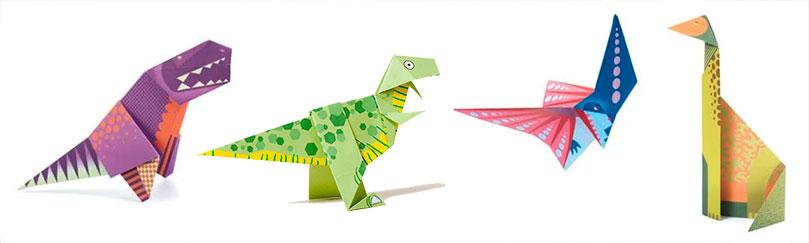 papiroflexia origami con dinosaurios
