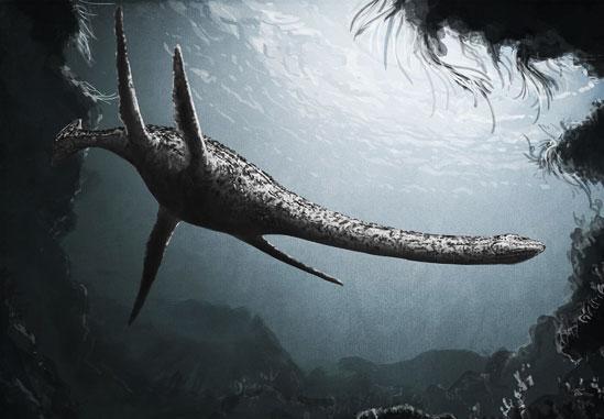 Plesiosaurus o el plesiosaurio, fue un género de grandes reptiles acuáticos sauropterigios. Perteneec al grupo de dinosaurios marinos