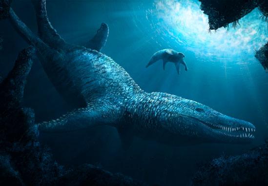 Los Pliosaurus o Pliosaurios dueron un tipo de dinosaurios marinos del mesozoico