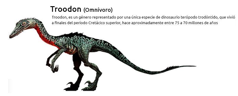 Troodon forma partedel grupo de los dinosaurios Omnívoros
